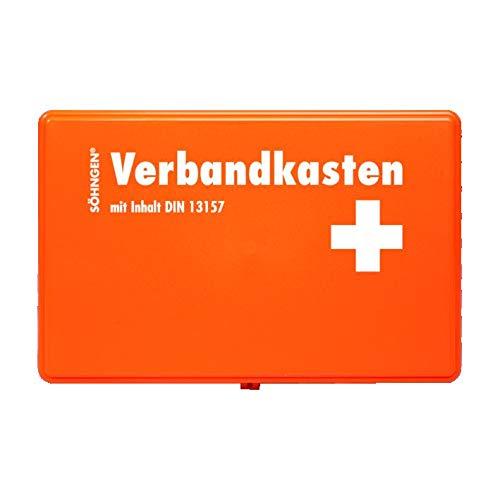 Söhngen Verbandskasten Kiel KU (mit Füllung, orange, Koffer aus ABS Kunststoff, Größe 260x160x80 mm) 3003045