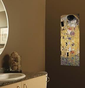 Autocollant mural 'Coucher de soleil sur Rouen', de Gustav Klimt, Taille: 30 x 91 cm