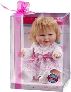 Berjuan- MUÑECO Baby Smile Pijama Rosa 30 CM ARTICULADO, (494)