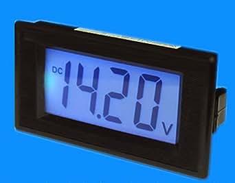 Blue 3 1/2 Digital LCD panel voltmètre 7.5-20V