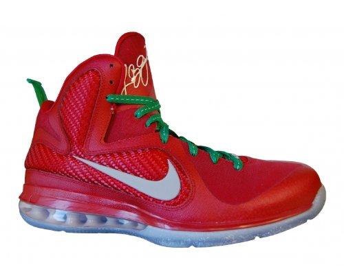 NIKE LeBron 9 Scarpa da Basket Uomo sprt rd/rflct slvr-white-lcky