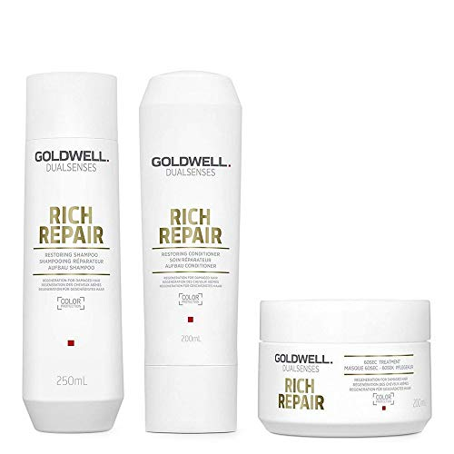 Goldwell rich repair Shampoo 250ml Conditioner 200ml 60sec treatment 200ml
