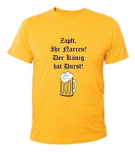 Mister Merchandise Cooles Herren T-Shirt Zapft ihr Narren. Der König hat Durst. , Größe: M, Farbe: Gelb (Wars-jugend-t-shirt Star)