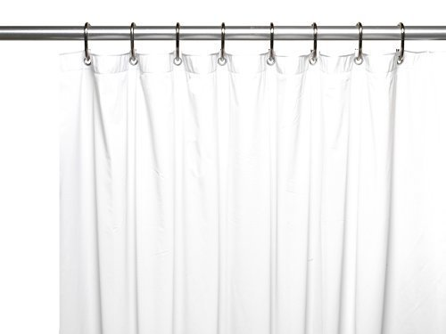 Carnation Home Fashions Jumbo Long Vinyl Shower Curtain Liner, 72-Inch by 96-Inch, White by Carnation