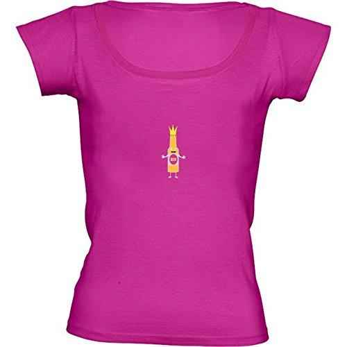 t-shirt-rosa-fuschia-girocollo-donne-taglia-m-regina-bottiglia-di-birra-crone-by-ilovecotton