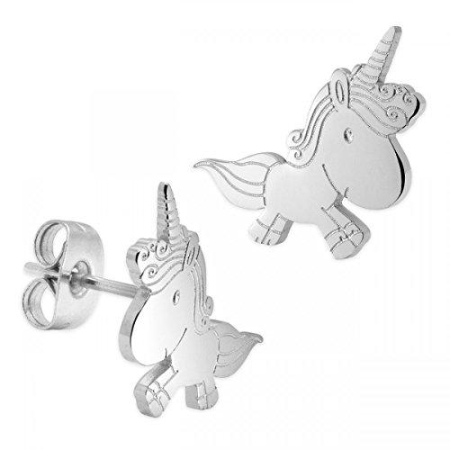 SoulCats® Pendientes unicornio hechos acero inoxidable
