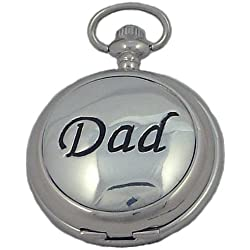 A E Williams Dad mens mechanical pocket watch with chain