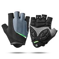 ROCK BROS Cycling Gloves Mountain Bike Gloves Men Women Road Bike Gloves Gel Paded Bicycle Gloves Half Finger Bikihg Gloves Shockproof and Breathable Working Gloves M