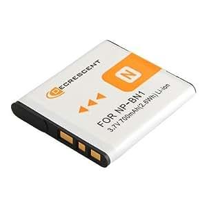 Decrescent Batterie de Rechange Li-ion 630MAH pour Appareil Photo Numérique Sony NP-BN1