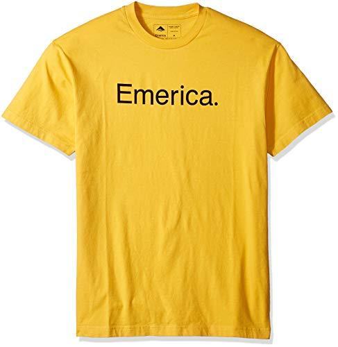 Emerica Herren Pure Logo SS Tee T-Shirt, Gold, Mittel