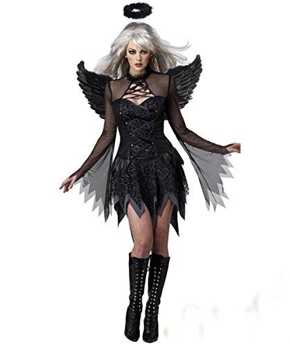 Disfraces Personajes Vestido ángel Oscuro caído