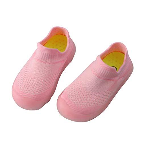 Primavera Verano Zapatos para bebé Niñas Niños Antideslizantes de Suela con Goma Zapatitos Gato Dibujos Animados Estampado Cuero Zapato Velcro Princesa Zapatillas Recién Nacido