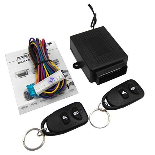 Sairis M602-8114 Fernbedienung Zentralverriegelung Kit Für KIA Autotürschloss Keyless Entry System Mit Kofferraumentriegelungsknopf (schwarz)