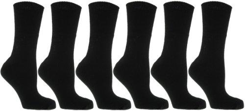 418gAGeyveL - 6 Pairs Ladies Winter Thermal Socks Black UK 4-7