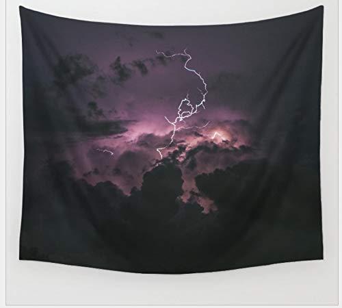 HYDDAXJW Tapisserie-Wandbehang, Blitz-Muster-Bett-Abdeckungs-Decken-Tischdecken-Picknick-Decken-Schlafsaal-Schlafzimmer-Ausgangswand-Tapisserie