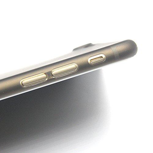 iPhone 7 (4,7 Zoll) weiße Hülle PP Ultra dünn Slim Case Schutzhülle Silikon Case Ultradünn Durchsichtig Transparent Matt weiß Bluecase schwarz
