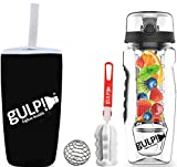 gulp Fruit Infuser Water Bottle 1 Litre with Tritan Infusion Unit Hydrogel Ice