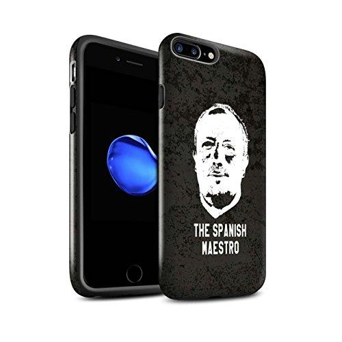 Offiziell Newcastle United FC Hülle / Glanz Harten Stoßfest Case für Apple iPhone 7 Plus / Ruhig Bleiben Muster / NUFC Rafa Benítez Kollektion Spanisch Maestro
