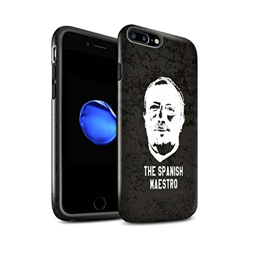 Officiel Newcastle United FC Coque / Brillant Robuste Antichoc Etui pour Apple iPhone 7 Plus / Rester Calme Design / NUFC Rafa Benítez Collection Maestro Espagnol