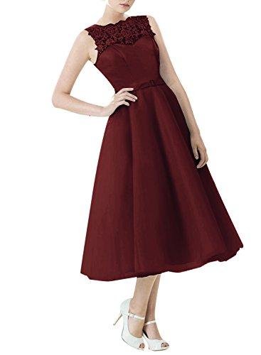Find Dress Vintage années 50 's Style Audrey Hepburn Rockabilly Swing, Robe de soirée cocktail à Carreau Bordeaux