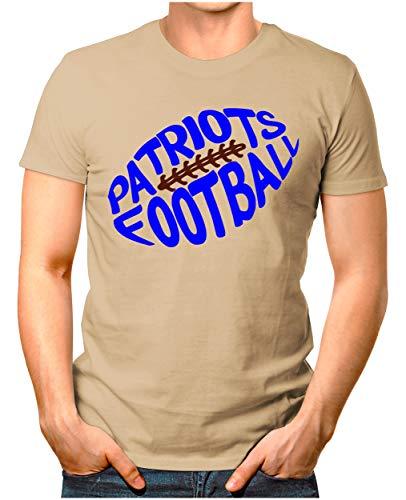 OM3® - New-England-Football - T-Shirt | Herren | American Football Shirt | L, Khaki