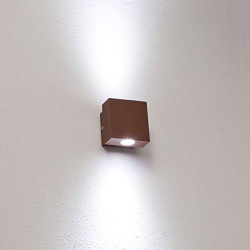 Lampada da parete, applique LED bianco, 2W,