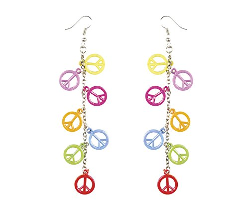 Boland 44525 Pendientes Peace Row, Disfraz, One Size