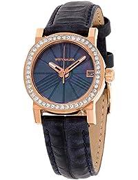 Wittnauer Reloj de Mujer Cuarzo 29mm Correa de Cuero de Cerdo dial Azul WN2000