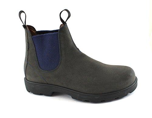 Frau 69D1 Chaussures Homme Gris Tableau Noir Bottes de Randonnée Mi Suède Élastique Beatles