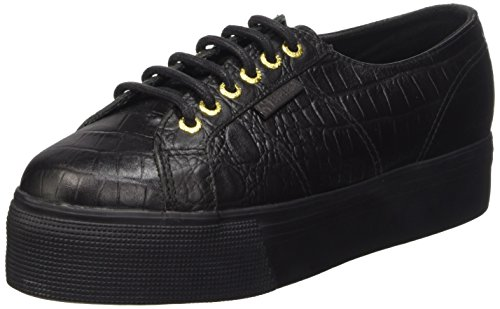 Superga 2790-Fglwembcocco, Sneaker, Donna, Nero (A09 Full Black), 36