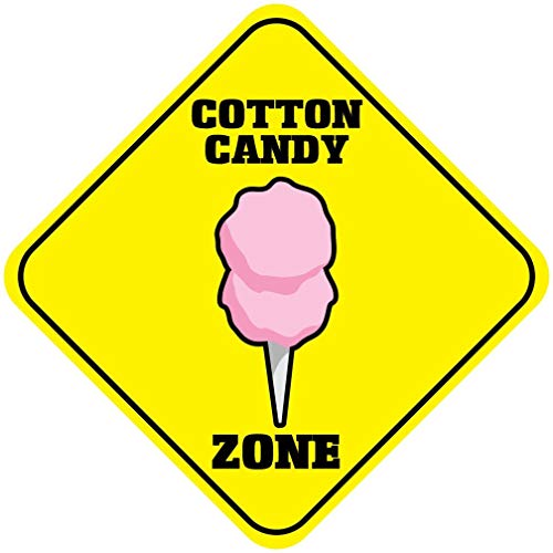 WallAdorn Cotton Candy Zone Crossing Iron Poster Blechschild, Vintage-Wanddekoration, für Café, Bar, Pub, Zuhause, 20,3 x 20,3 cm - Cotton Candy Cafe