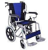 ACEDA Rollstuhl Faltrollstuhl Mit Steckachsensystem Sitzbreite 40Cm Reiserollstuhl 11KG Leicht Transportrollstuhl,Belastbarkeit 100 Kg,Dickes Stahlrohr