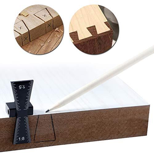 Schwalbenschwanz-Marker, Aluminiumlegierung, handgeschliffene Holzfugen, Schwalbenschwanz-Werkzeug, Schwalbenschwanz-Schablone, Größe 1:5 und 1:8, Hartholz, AP507149