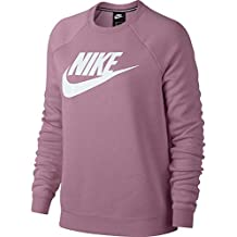 Nike M NSW Club CRW BB Long Sleeved t-Shirt, Hombre, Pink Gaze