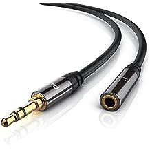 Primewire - 10m Cavo di prolungamento audio con jack di per ingressi AUX | Spinotto in metallo pieno dalle dimensioni perfette | Connettore maschio da 3,5mm a connettore femmina da 3,5mm | Serie Premium HQ