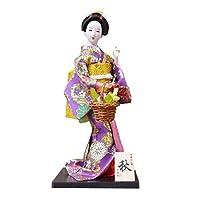 Black Temptation Japanese Kimono Doll Geisha Figurine Ornaments Gift Art Craft Collection/Gift,C