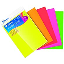 Sadipal 936176 - Pack 5 cartulinas fluorescentes, multicolor