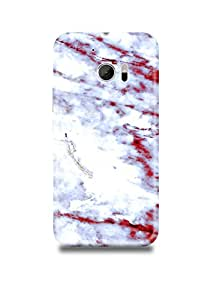 HTC M10 Cover,HTC M10 Case,HTC M10 Back Cover,White & Red Marble HTC M10 Mobile Cover By The Shopmetro-2282-6139
