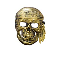 Hacoly Scary Pirate Skull Mask Halloween Horror Plastic Face Mask for Adults Cosplay Costume Accessory Halloween Carnival Party Decoration