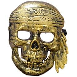 Máscara de pirata con calavera.