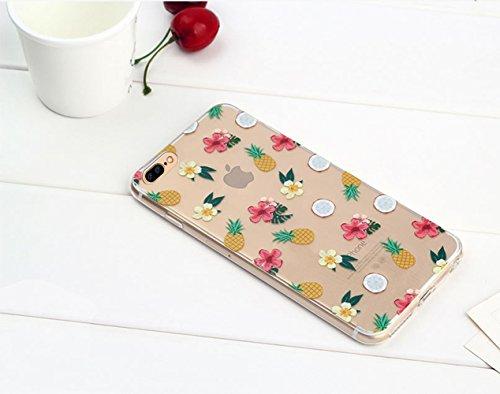 iPhone 7 Plus Custodia (5.5) , Bonice iPhone 7 Plus Cover, Trasparente Morbido Ultra Slim Thin Crystal Clear Cover + 1x Protezione Schermo Screen – Coccinella Model 2