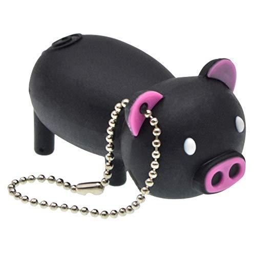 FbscTech USB-Speicherstick in Schweine-Form (USB 2.0) Black&pink 64 GB