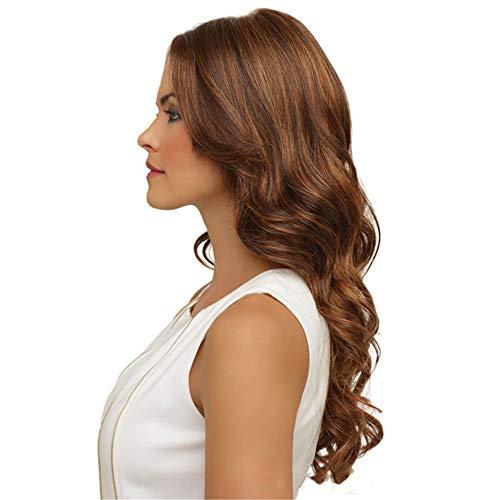 Cmylbaml Perruques de Cheveux Noirs et Marron Perruques synthétiques synthétiques de Fibres ondulées
