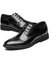 Jsix Boucle Chaussures En Cuir Mens Occasions Formelles Ou Informelles Robe Formelle Élégante (43, Brun)