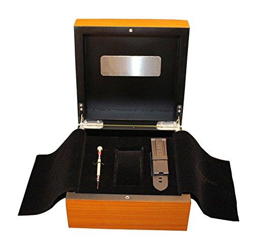 HLH-CTRL Uhrenbox upscale Holz Tasche Geladen mit Schmuck Display-Box Beige-leinen, Schmuck-display