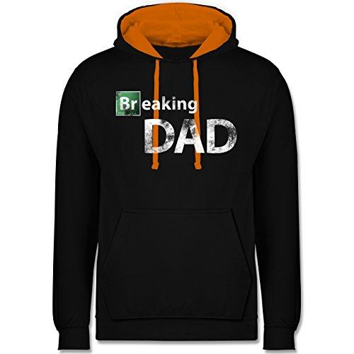 Vatertag - Breaking Dad - Kontrast Hoodie Schwarz/Orange