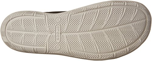 crocs Herren Swiftwater Wave Brogue, Grau Black/Pearl White