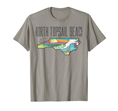 North Topsail Beach State of North Carolina Outdoors  T-Shirt -
