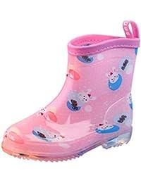 Tookang Bebé Niño Niña Ligero Bota de Lluvia Calzado Botas de Nieve Zapatos de Agua de Lluvia de Goma
