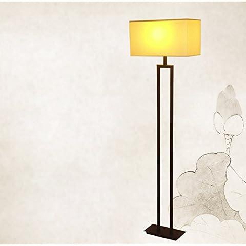 lampade di illuminazione creativi battuto piano del ferro lampada da terra lampada da letto lampada in tessuto minimalista della Nuova Cina